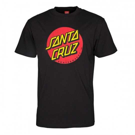 "Santa Cruz ""Classic Dot"" Black Tee Shirt"