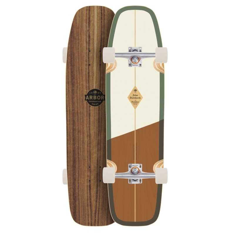 "Arbor Shakedown 34"" Foundation Skateboard Hybride Complet"