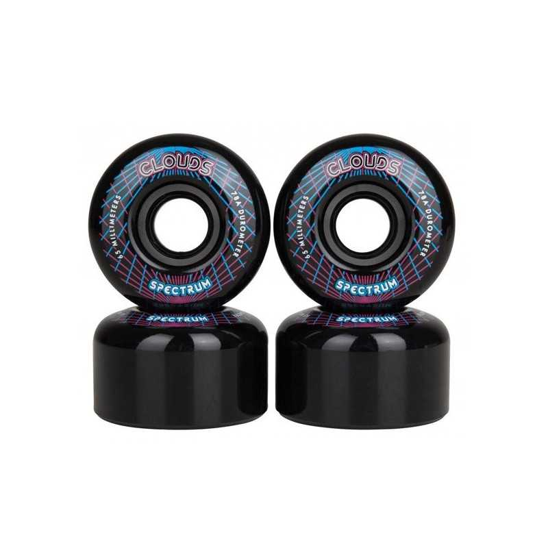 Clouds Urethane Spectrum 65mm Roller Skate Wheels(4 Pk)