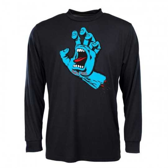 "Santa Cruz ""Screaming Hand"" Black Longsleeve Tee Shirt"