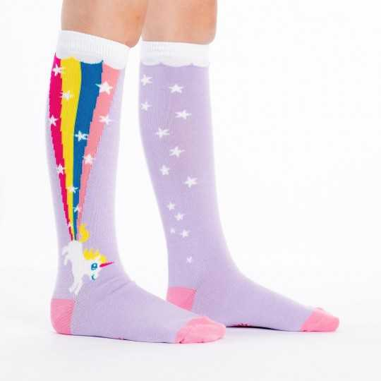 "Sock It To Me ""Rainbow Blast"" Kids Knee-high Socks"