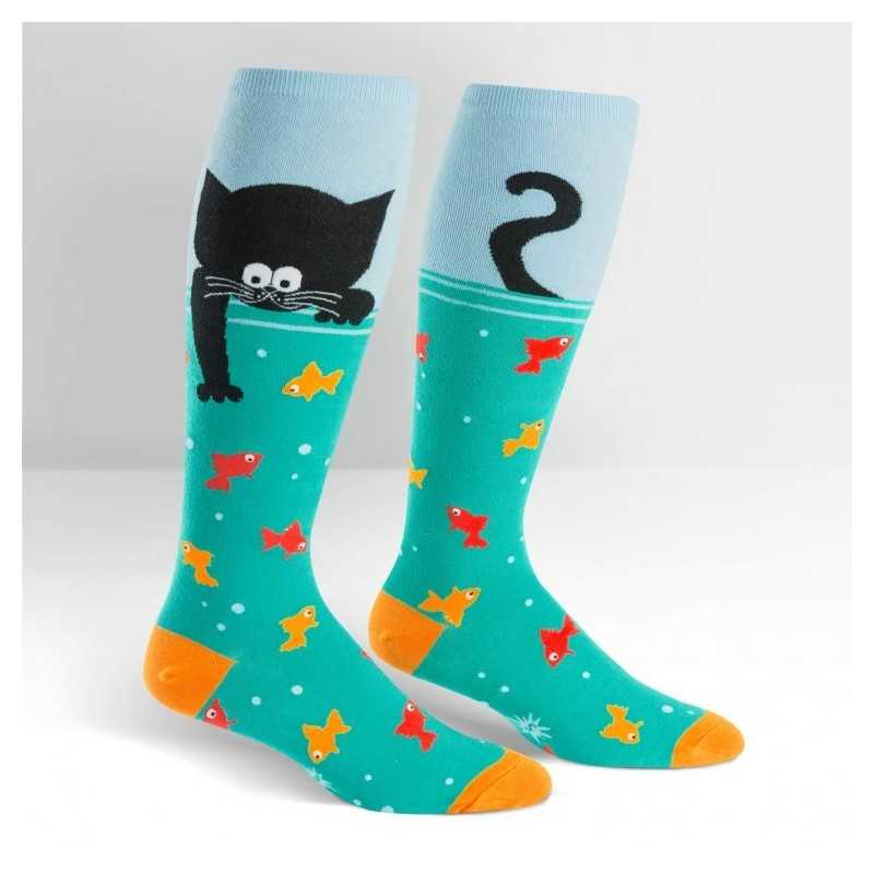 "Sock It To Me ""Gone Fishin"" Chaussettes Mi-bas Stretch-It"