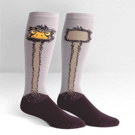 "Sock It To Me ""Shark Ostrich"" Knee-high Stretch-It Socks"