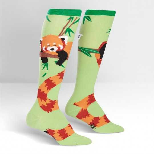 "Sock It To Me ""Tale of the Red Panda"" Knee-high Socks"