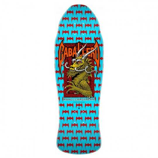 "Powell Peralta Caballero Street Blue Red 9.62"" Plateau Skateboard"