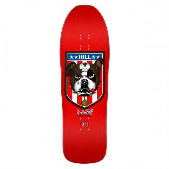 "Powell Peralta Hill Bulldog Red 10"" Plateau Skateboard"