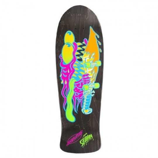 "Santa Cruz Neon Slasher Matte Stain 10.1"" Plateau Skateboard"