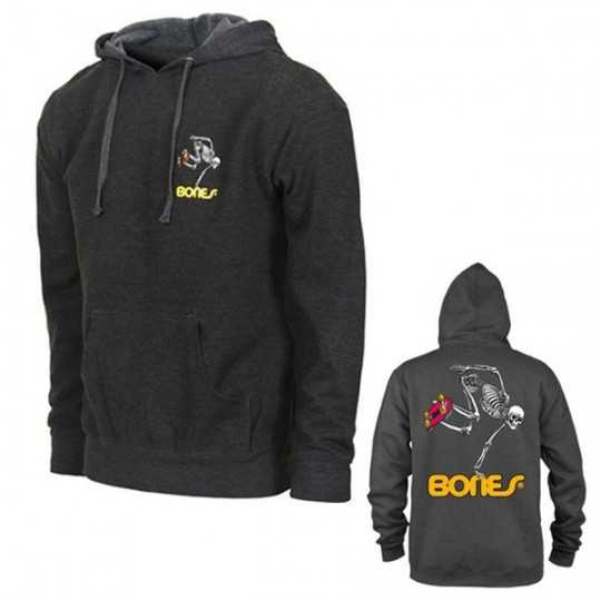 Powell Peralta Skateboard Skeleton Grey Hoodie