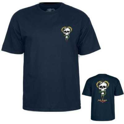 Powell Peralta McGill Skull & Snake Navy Tee Shirt