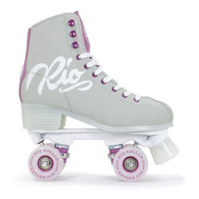 Rio Script Grey & Purple Roller Skates