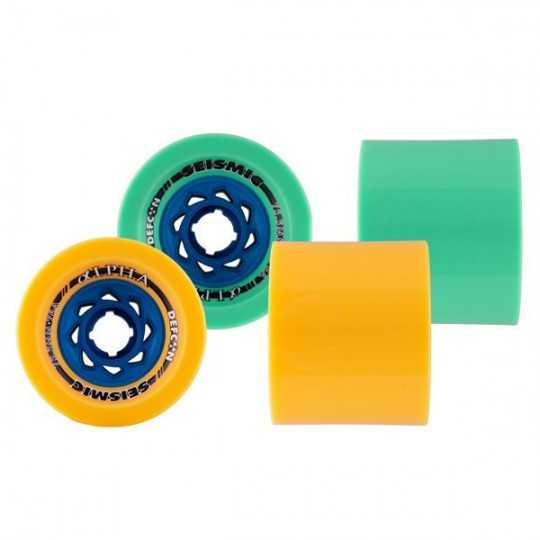 Seismic Alpha Defcon 75.5mm Longboard Wheels