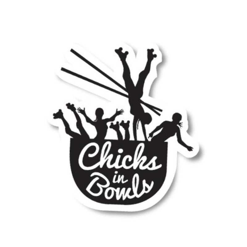 "Chicks In Bowls ""Classic"" Sticker"