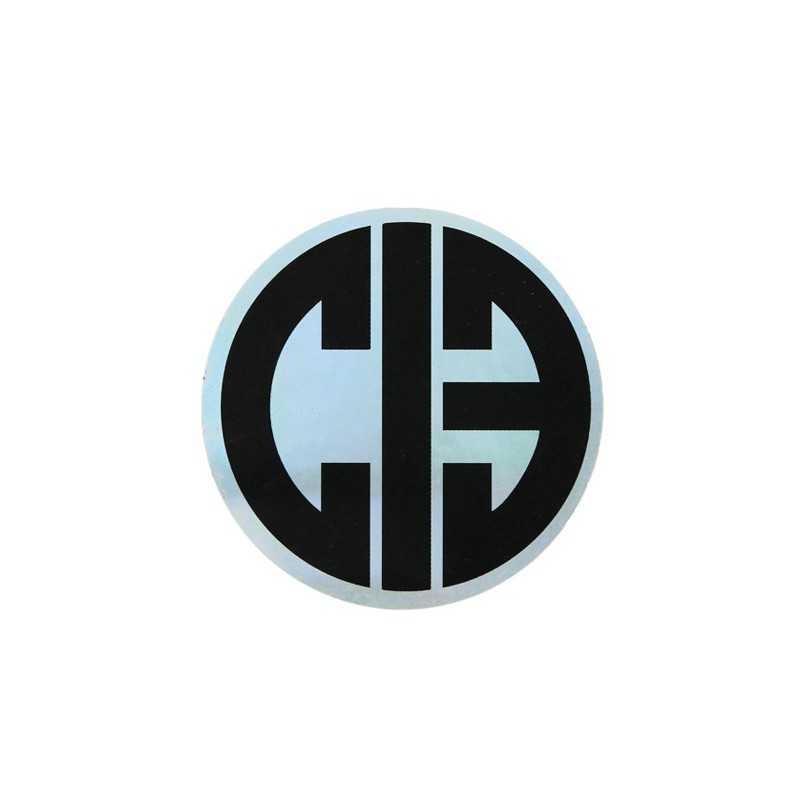 """Chicks In Bowls """"CIB logo Siver"""" rond Autocollant"""