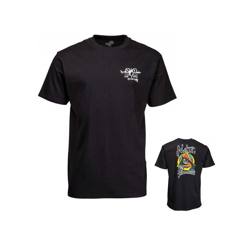 Santa Cruz Natas Evil Cat Tee Shirt Noir