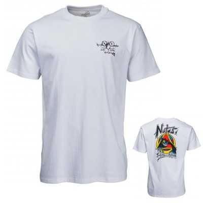 Santa Cruz Natas Evil Cat Tee Shirt Blanc