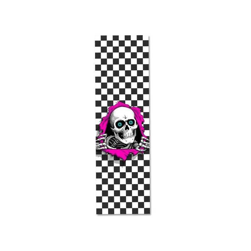 """Powell Peralta Ripper Checker White 9""""x33"""" Skateboard Griptape"""