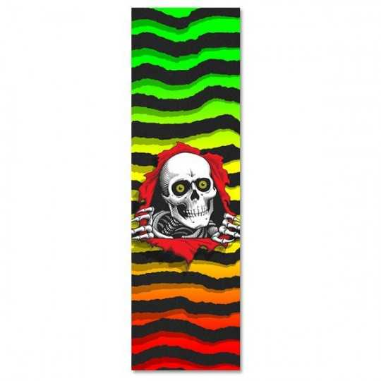 "Powell Peralta Ripper Fade White 9""x33"" Grip Skateboard"