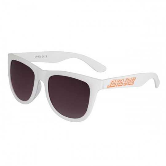 Santa Cruz Classic Strip White Sunglasses