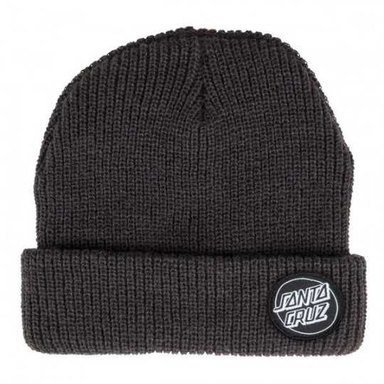"Santa Cruz ""Outline Dot"" Black Beanie"