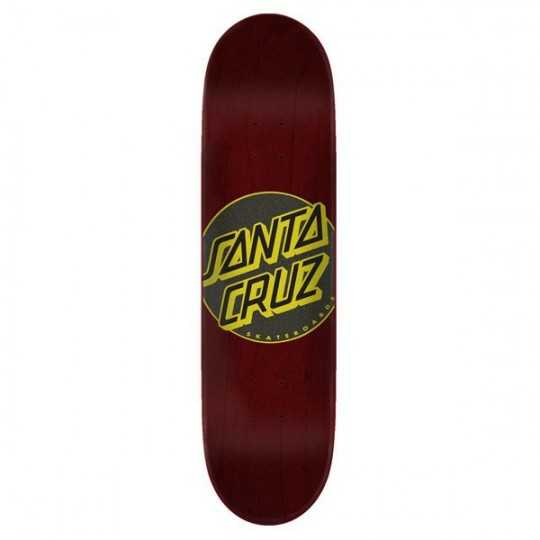 "Santa Cruz Classic Dot Taper Tip 8"" Brown Skateboard Deck"