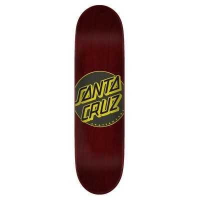 "Santa Cruz Classic Dot Taper Tip 8"" Brown Plateau Skateboard"