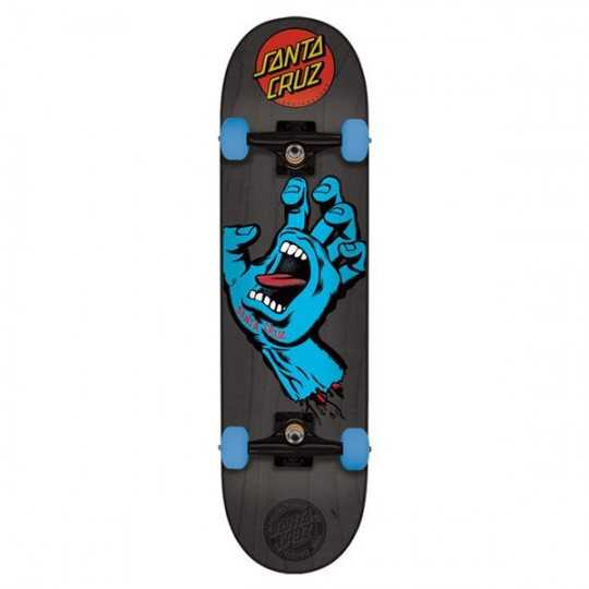 "Santa Cruz Screaming Hand Grey 7.25"" Skateboard"