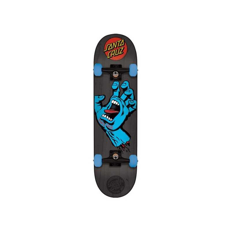 "Santa Cruz Screaming Hand Grey 7.25"" Skateboard"