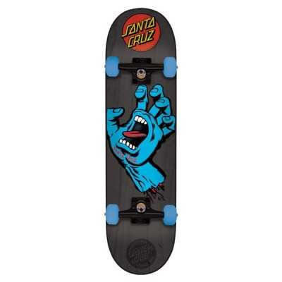 "Santa Cruz Screaming Hand Grey 7.25"" Skateboard complet"