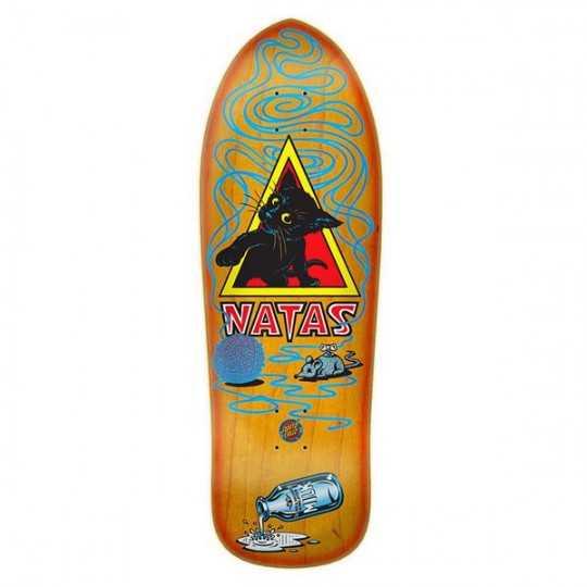 """Santa Cruz Natas Kitten 9.89"""" Orange Skateboard Deck"""