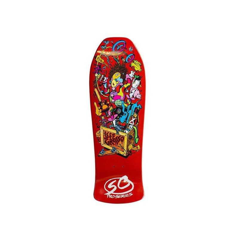 """Santa Cruz Grosso Toybow 10"""" Orange Plateau Skateboard"""