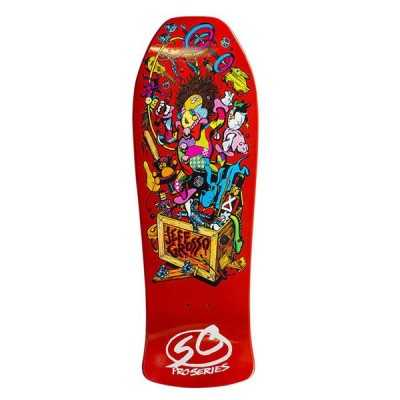 "Santa Cruz Grosso Toybow 10"" Orange Plateau Skateboard"