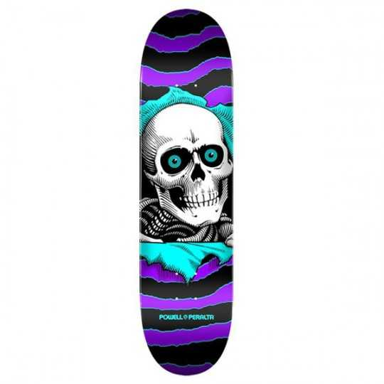"Powell Peralta Ripper PP 8"" Purple/Teal Plateau Skateboard"