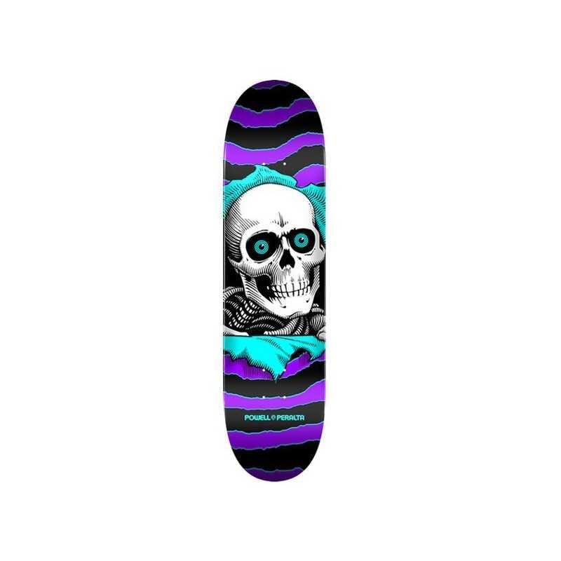 "Powell Peralta Ripper PP 8"" Purple/Teal Plateau Skateboard"