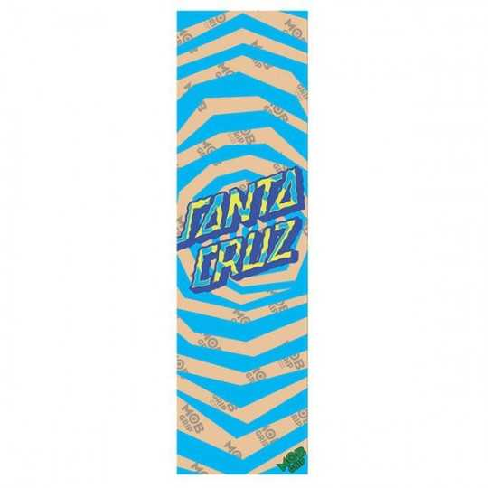 "Santa Cruz / MOB Illusion Dot Clear 9""x33"" Grip Skateboard"