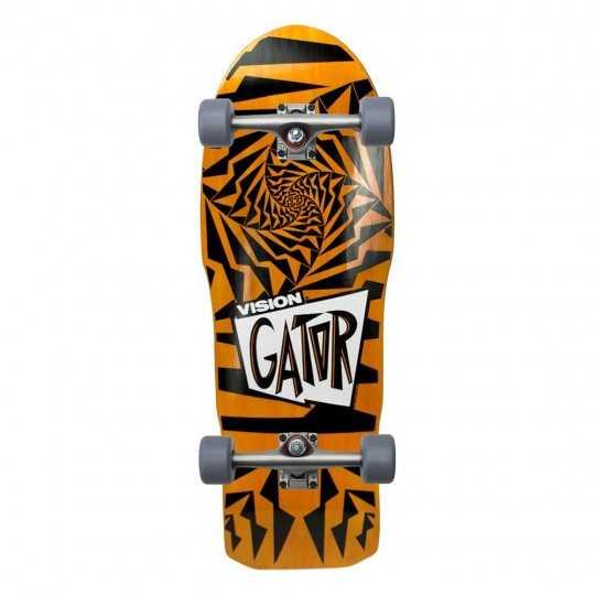"""Vision Gator II 10.25"""" Orange & Black Complete Skateboard"""