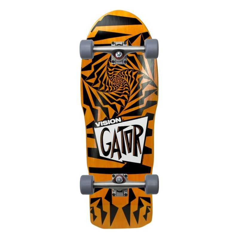 "Vision Gator II 10.25"" Orange & Black Complete Skateboard"