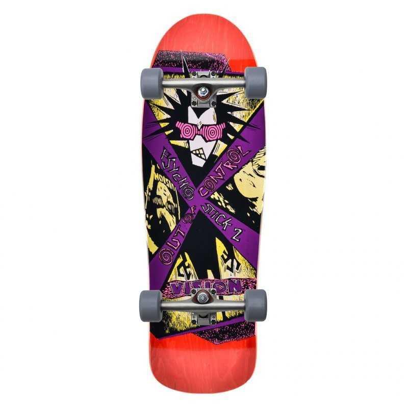 Vision Psycho Stick 2 Red Complete Skateboard
