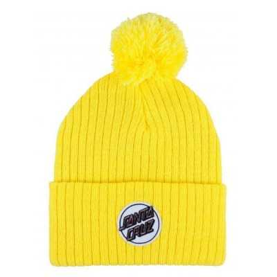 "Santa Cruz ""Dot"" Yellow Womens Beanie"
