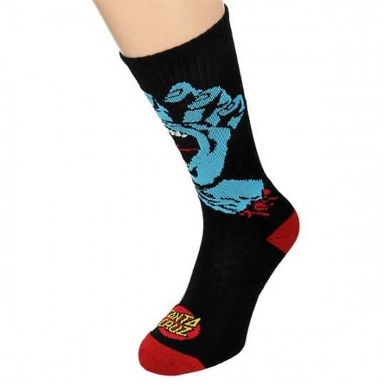 "Santa Cruz ""Screaming Hand"" Black Men's Socks"
