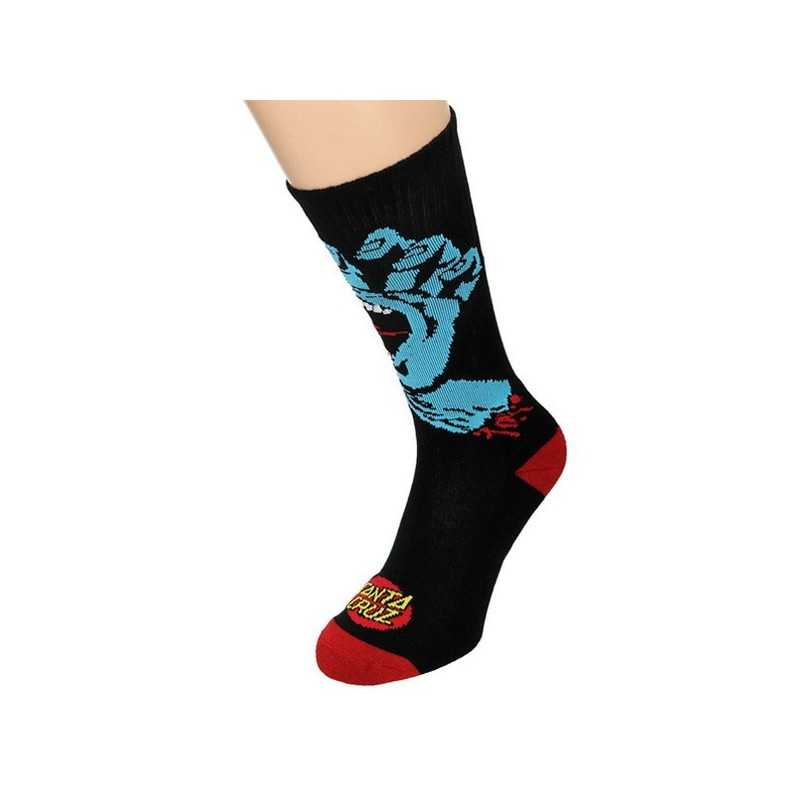 "Santa Cruz ""Screaming Hand"" Black Men's Socks"