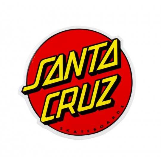 "Santa Cruz Classic Dot 3"" Red Autocollant"