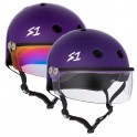 S-One Lifer Purple With Visor Casque Roller Derby(Coque)
