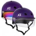 S-One Lifer Purple With Visor Roller Derby Helmet(Shell)