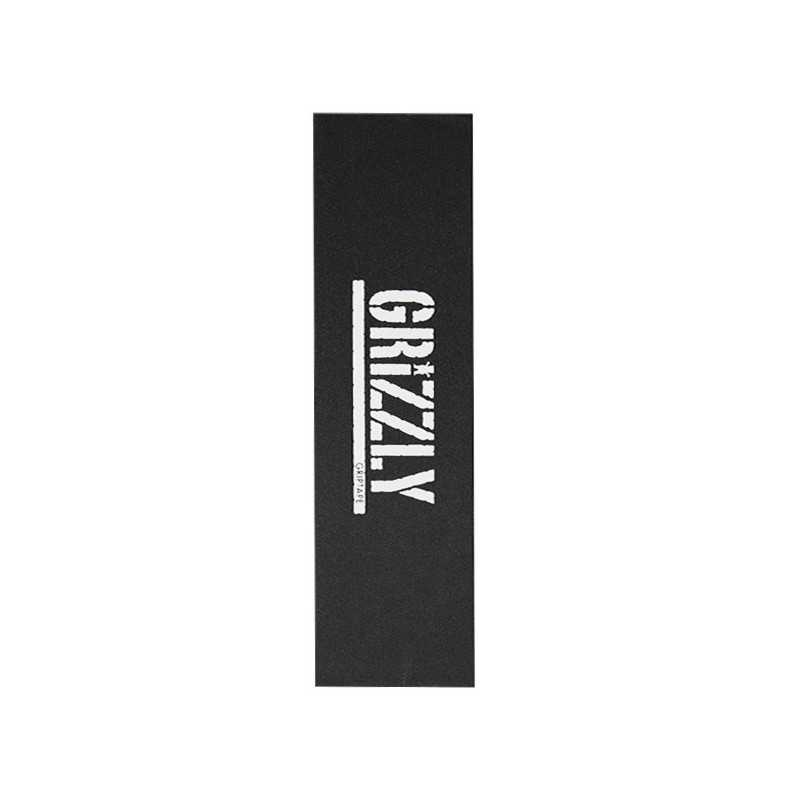 "Grizzly Stamp White 9""x33"" Grip Skateboard"