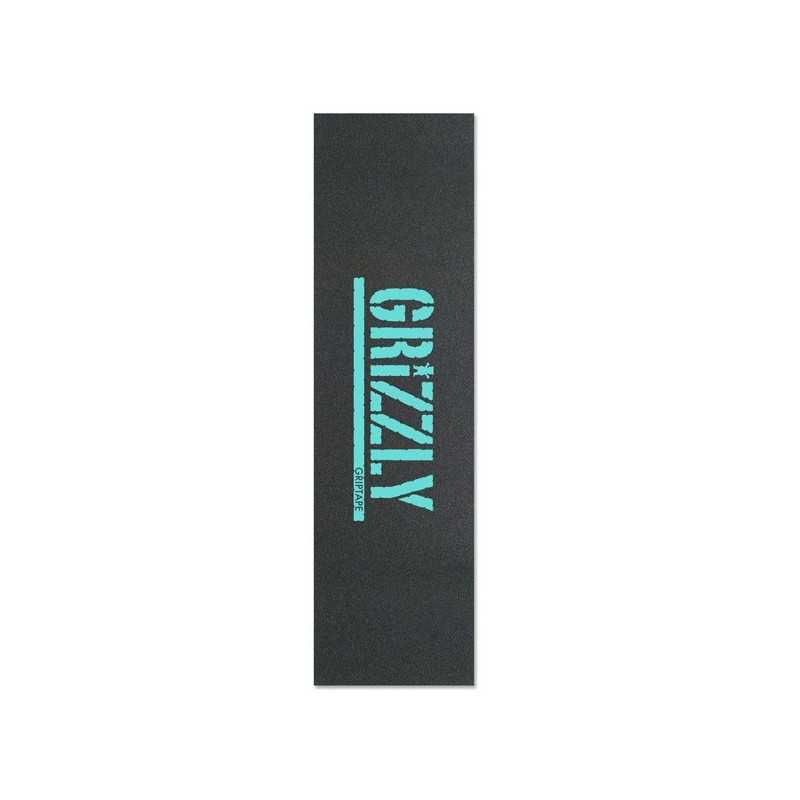 "Grizzly Stamp Red 9""x33"" Skateboard Griptape"