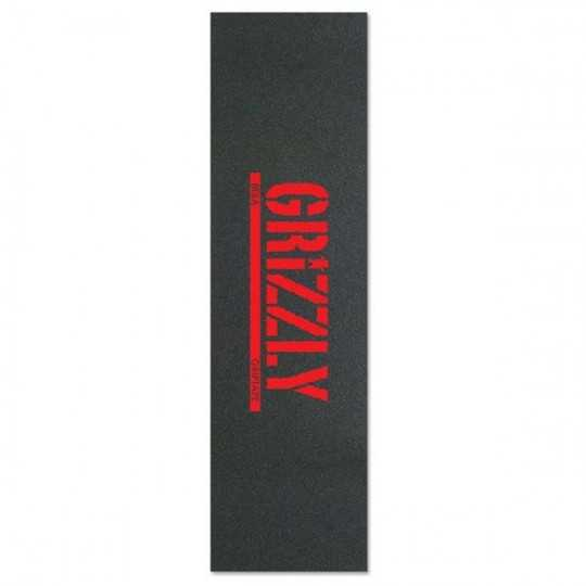 """Grizzly Stamp Red 9""""x33"""" Grip Skateboard"""