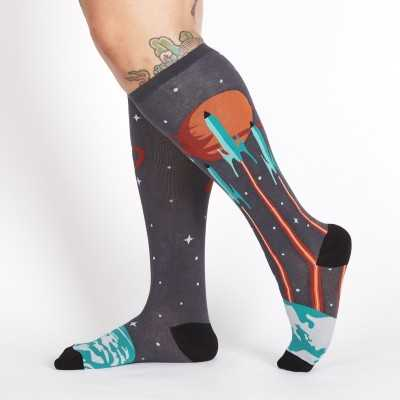 """Sock It To Me """"Launch From Earth"""" Chaussettes Mi-bas Stretch-It"""