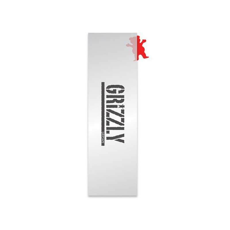 "Grizzly Stamp Clear 9""x33"" Skateboard Griptape"