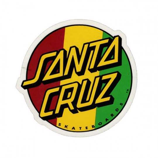 "Santa Cruz Classic Dot 3"" Rasta Autocollant"