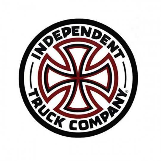 "Independent White Cross Logo 3"" Autocollant"